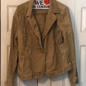 Ann Taylor Loft Beige corduroy jacket